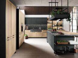Cucina classica nives legno rovere antico bof linearredo casa-2